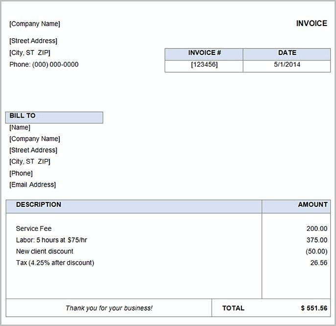 Basic Invoice Basic Invoice Template And General Writing Guidelines To Help You Creating An Invoice Ma Invoice Template Word Invoice Template Word Template