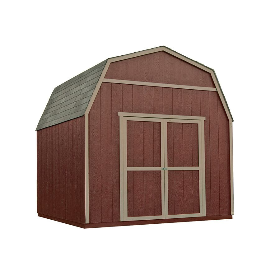 Heartland Rainier Gambrel Engineered Wood Storage Shed Common 10 Ft X 10 Ft Interior Dimensions 10 Ft X 9 71 F Wood Storage Sheds Building A Wood Shed Shed
