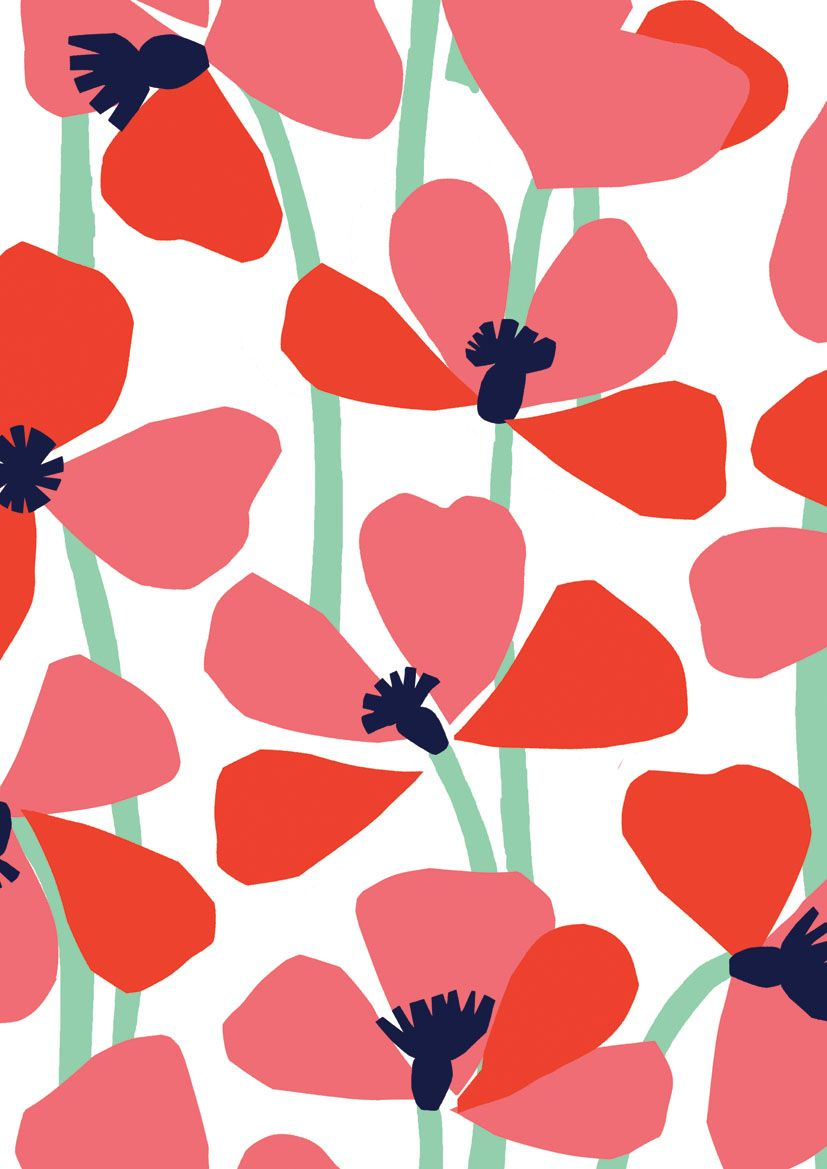 pattern-by-Minakani-modern-simple-graphic-floral-poppy-nature