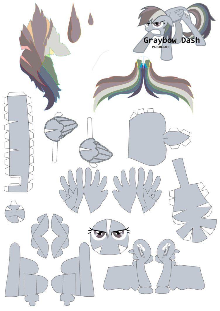 Graybow Dash Papercraft pattern by RainyHooves | Mi pequeño pony ...