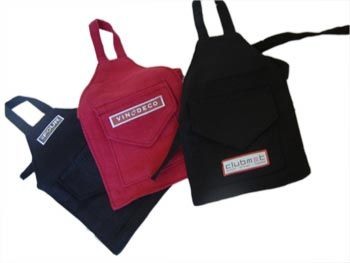 Vinodeco Wine Decorations: Bottle Aprons with YOUR Logo, Custom Wine Bottle Packaging