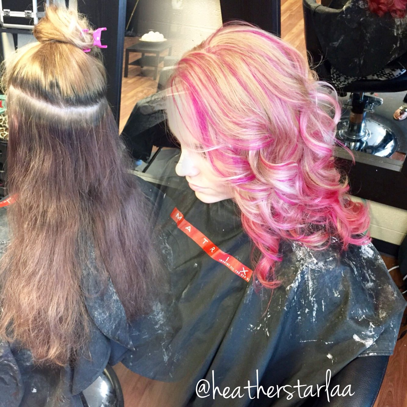 Blonde Hair With Pink Underneath And Pink Highlights Pink Blonde Hair Cool Hairstyles Hair