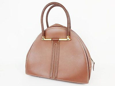 100 Authentic Hermes Gobi Handbags Y Engraved Brown Courchevelfrom Japan P948 Authentic Hermes Unique Bags Handbags