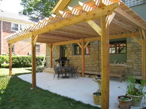 Image Result For How To Build A Pergola On Concrete Slab Rustic Pergola Pergola Backyard