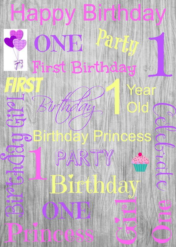 First Birthday Personalized Photo Backdrop Birthday Backdrop 1st Birthday Photo Booth Backdrop Photo Backdrop Printed Vinyl Backdrop