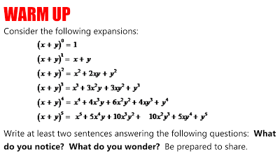 EPSILON-DELTA: Noticing and Wondering with the Binomial Theorem ...