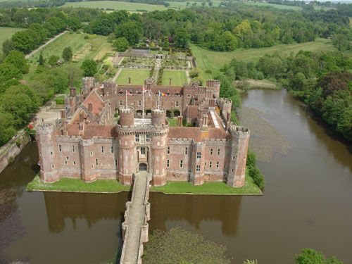 A Castle With A Moat And Drawbridge Dont Forget The Crocodiles In