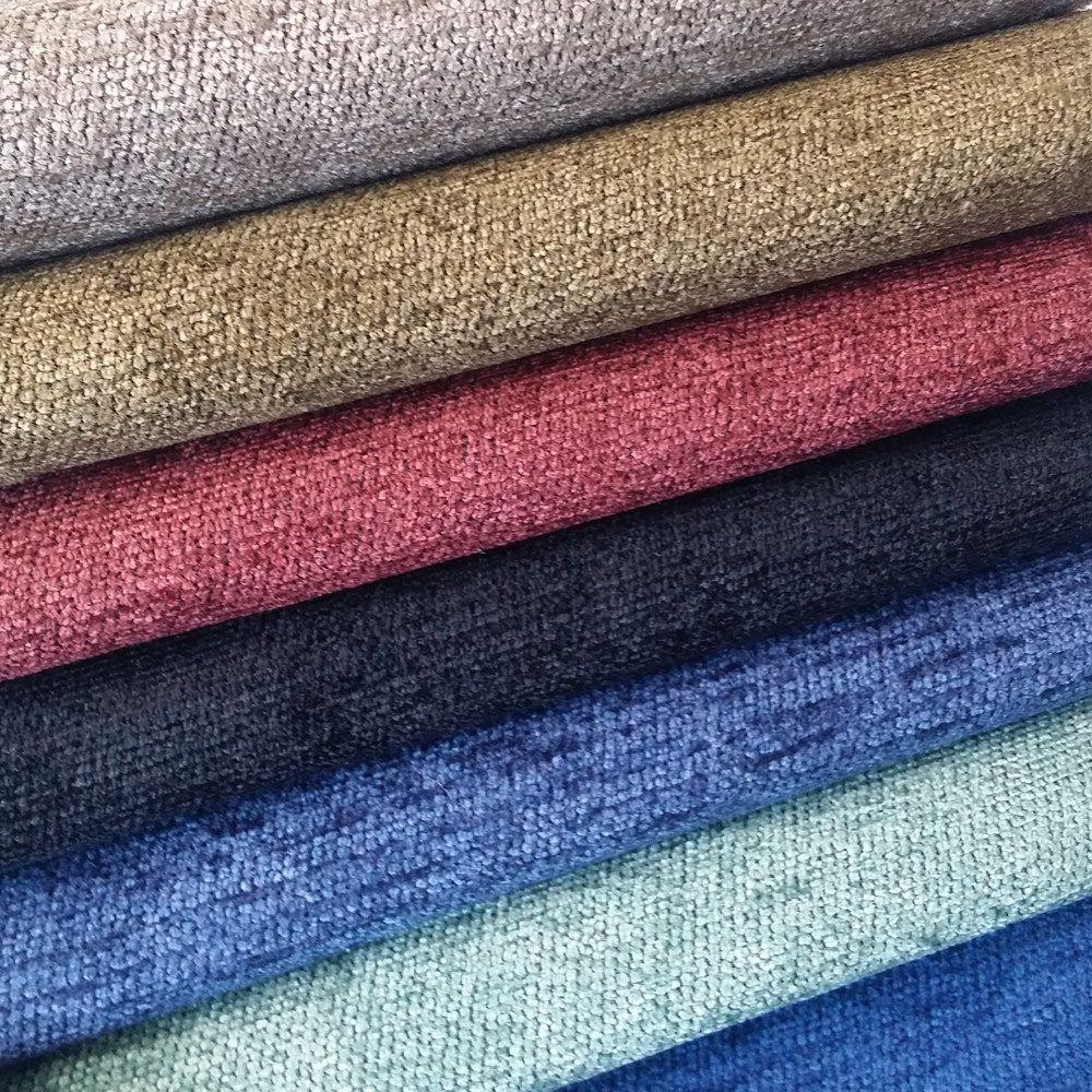 Solid Fabric Plain Chenille Yarn Dyed Jacquard Woven Soft Curtain Drapery Sofa Cushion Fabrics Upholstery Use 28 Cushion Fabric Cushions On Sofa Jacquard Weave