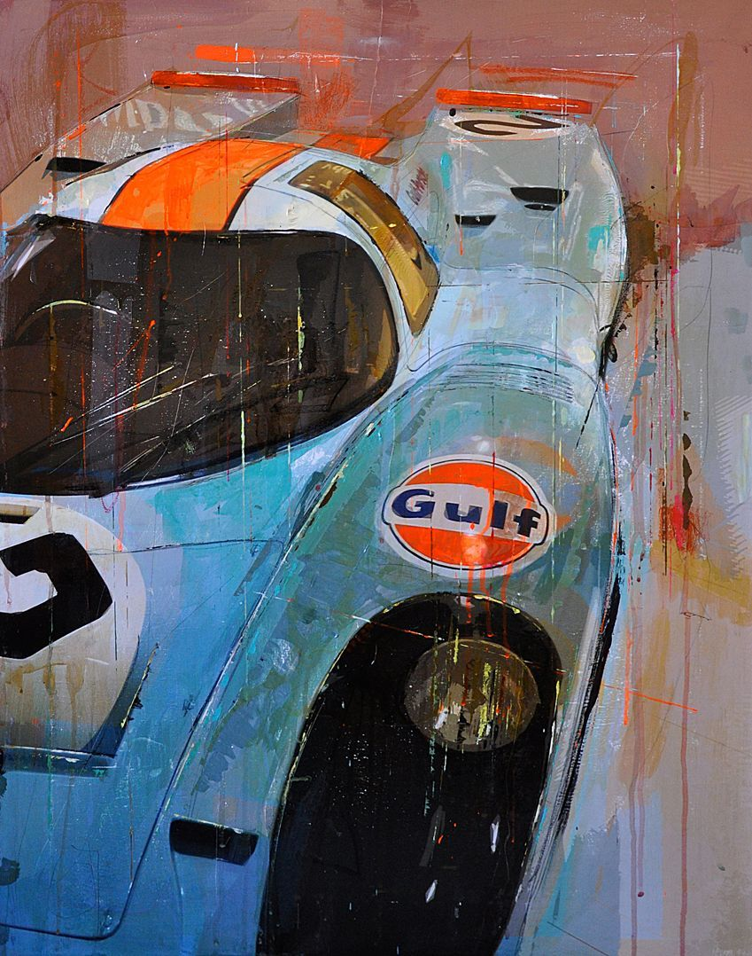 Nice Paintings by Markus Haub. Vintage Can-Am racing | Auto Art ...