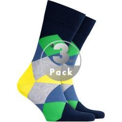 Photo of Burlington men's socks, cotton, navy-yellow patterned blue Burlington