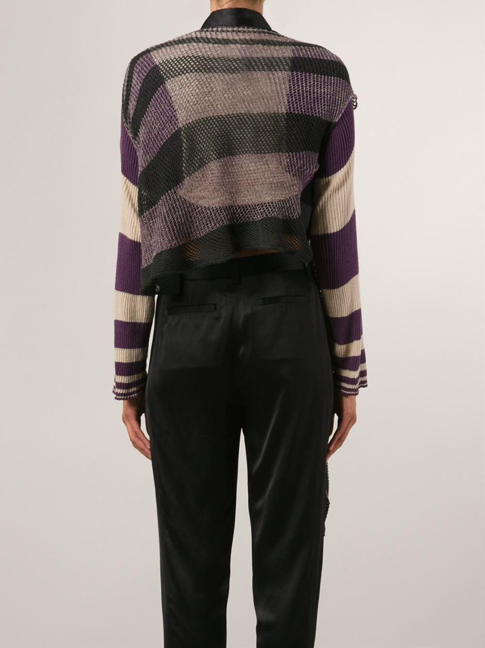 4fd4069810e85 Vivienne Westwood Drapey Striped Cardigan - Anastasia Boutique - Farfetch .com