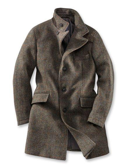 Moderner 'Harris Tweed' Mantel bestellen THE BRITISH SHOP