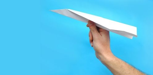 How to Cut a Paper Airplane to Make a Cross