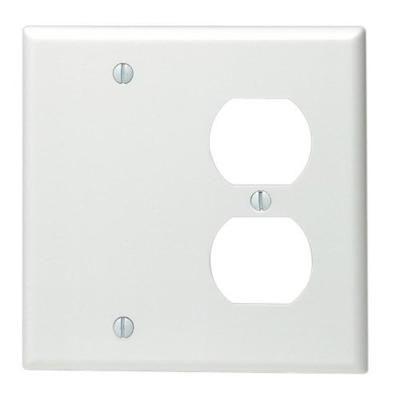 Leviton Wht Combo Wall Plate