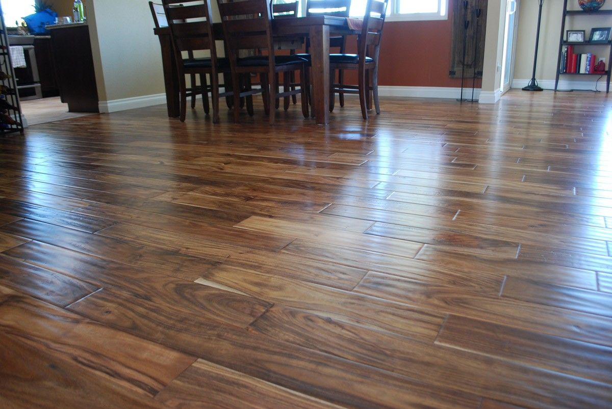 Hardwood Flooring In The Kitchen Beautiful Acacia Wood Flooring With Dining Tables Http