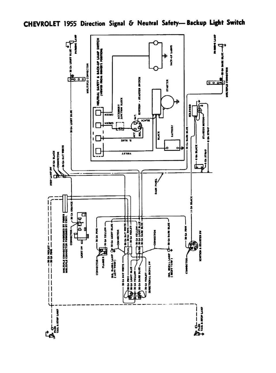 17 1955 Chevrolet Truck Wiring Diagram Electrical Wiring Diagram Chevy Trucks Safety Switch