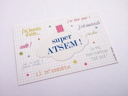 Mini Carte Super Atsem Cadeau Pour Enseignant Cadeaux