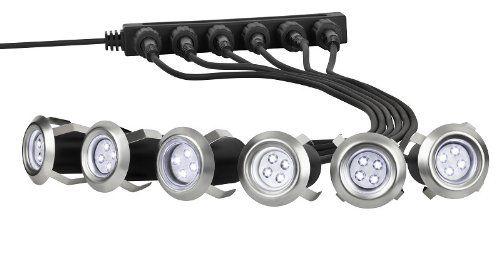 6 X LED Einbaulampen Terrassenlampen, Bodenlampen, Einfahrt Einbaustrahler  Terrasse, Bodenstrahler Möbellampen, Gartenstrahler