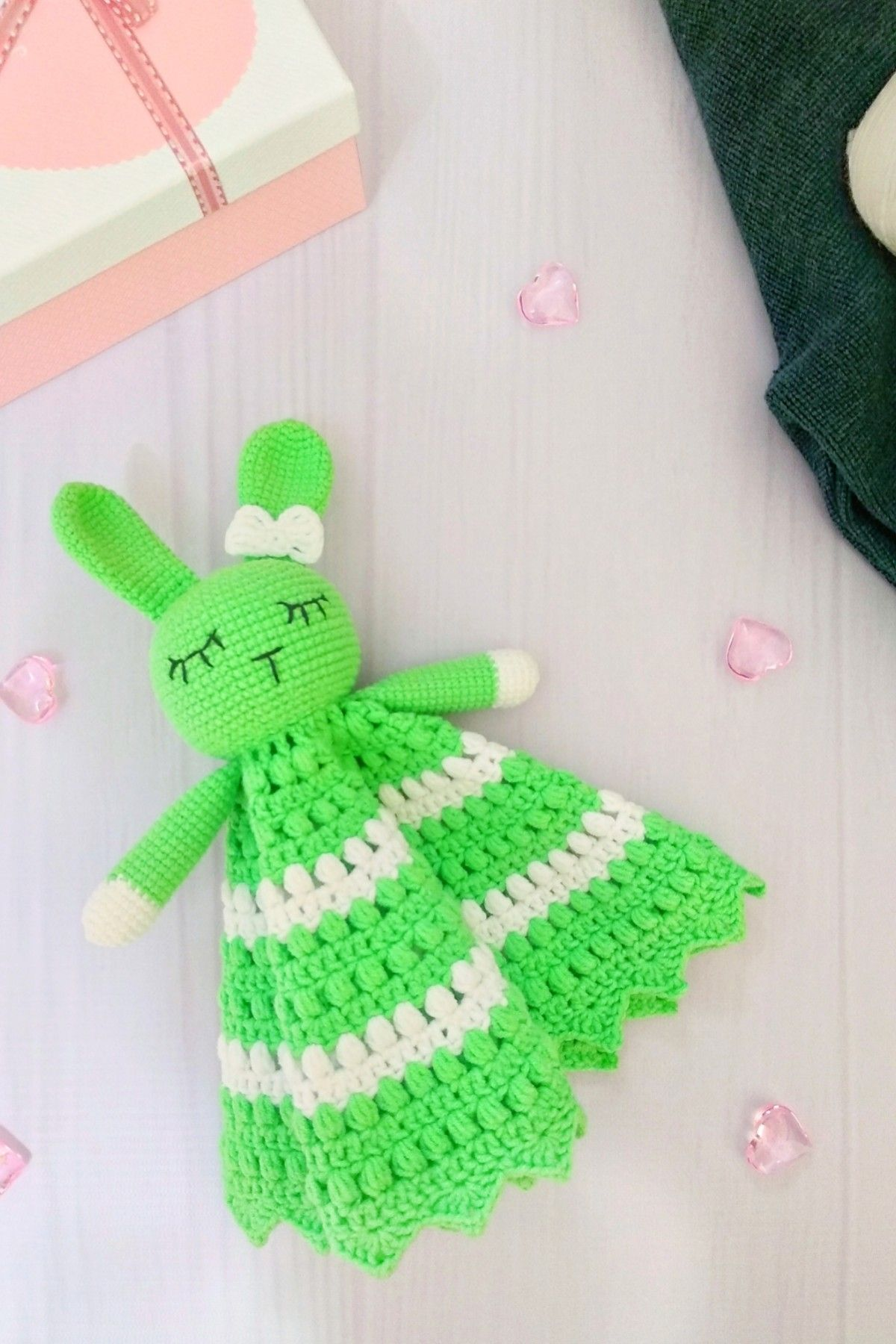 READY TOY Comforter Bunny Baby Lovey Toy Cute