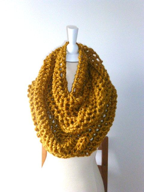 2014 trend Infinity knitting Scarf  gifts  Handmade by PIPPADUSHES, $45.00