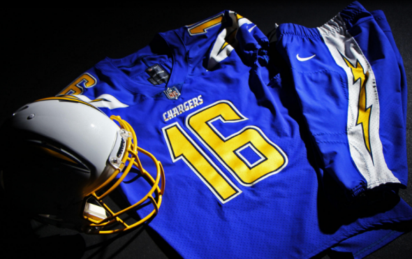 2016 new san diego chargers color rush jersey best one in