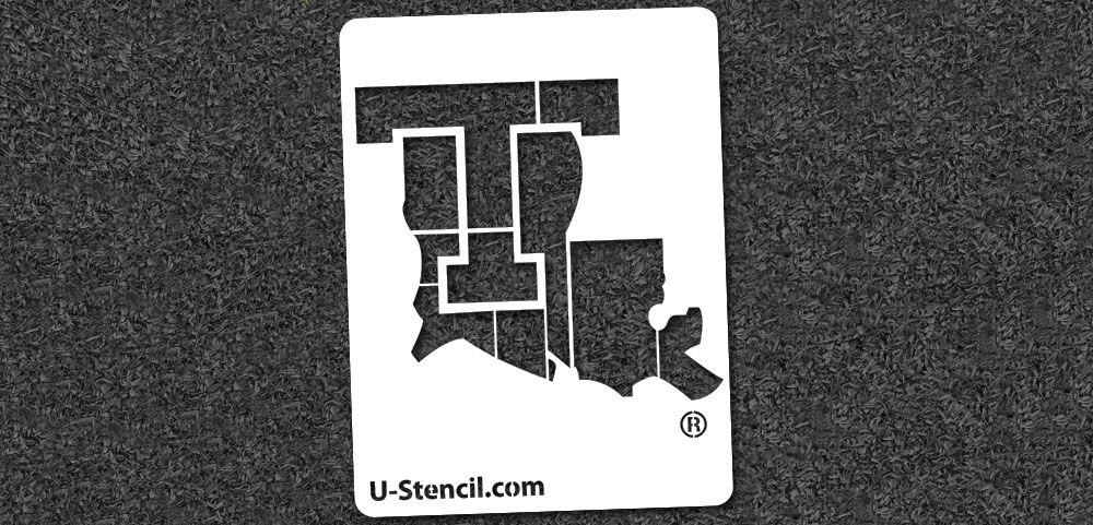 "$13.99 PRODUCT DETAILS Louisiana Tech ""T"" Mini Stencil ..."