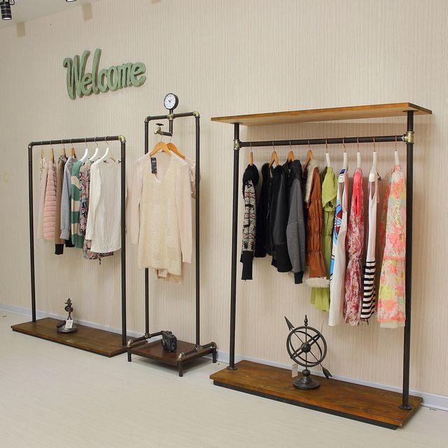 Xin XIEFA pie de hierro tienda de ropa vintage suspensión de ropa ...