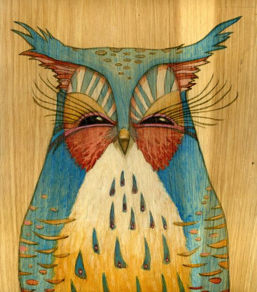 I think owls are beautiful. It would be perfect on my bedroom wall! ...Or on my arm. #art #owls