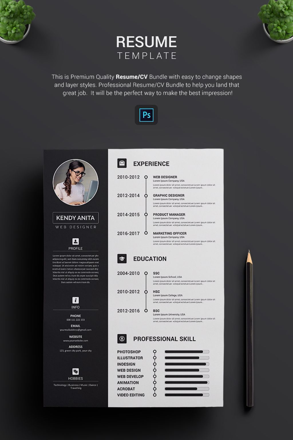 Andy cv resume template 70646 resume template