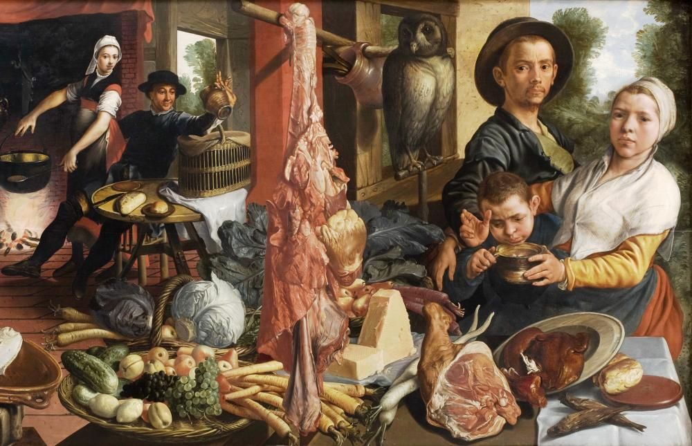 The Fat Kitchen, An Allegory jigsaw puzzle in Piece of Art puzzles on TheJigsawPuzzles.com