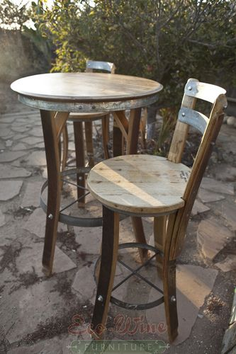 Wine barrel furniture table barrel furniture pinterest tonneau barrique et mobilier de salon - Meuble barrique ...