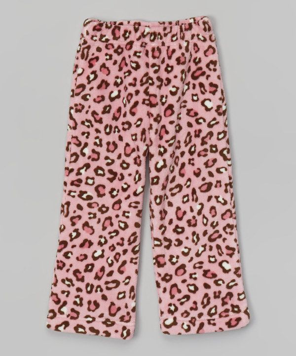 Look at this Pink Leopard Fleece Pants - Toddler