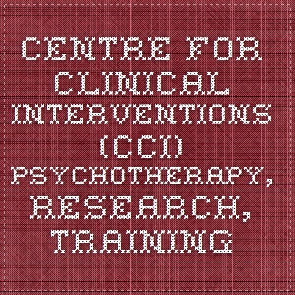 Centre for Clinical Interventions (CCI) Psychotherapy