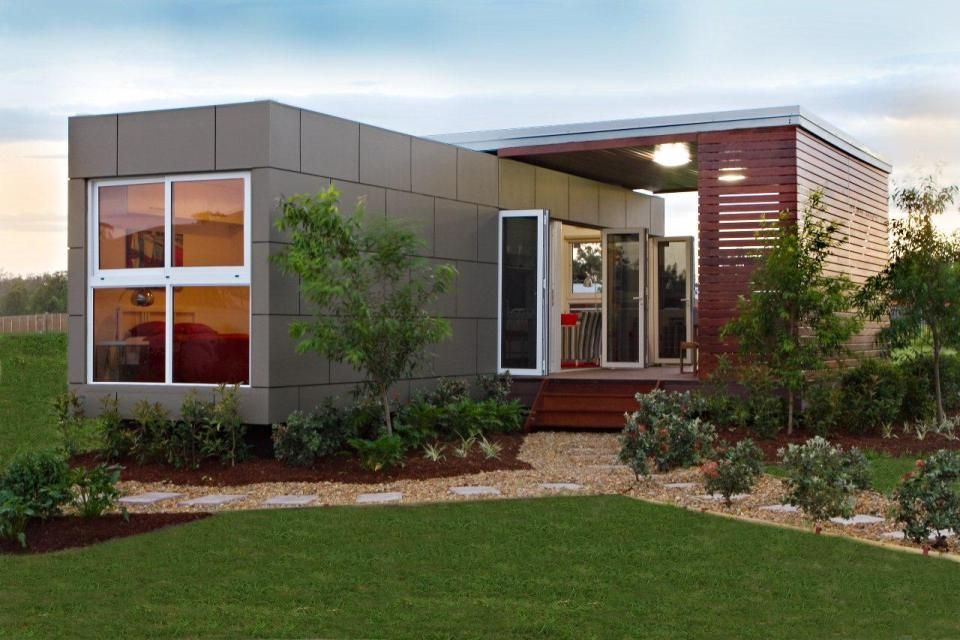 The milan a prefab modular home based on a standard for Modular granny flat california