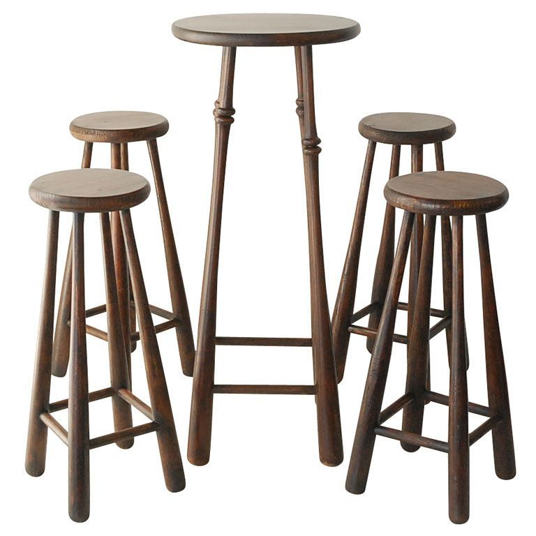 1stdibs Wonderful And Folky Baseball Bat Bar Stools Table Bartablesandstools