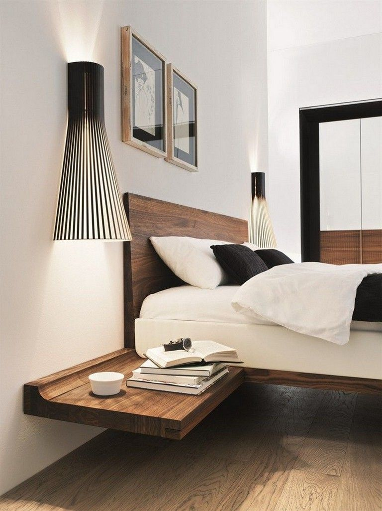 30 Stunning Rustic Floating Style Bed Frame In Full Size Simple