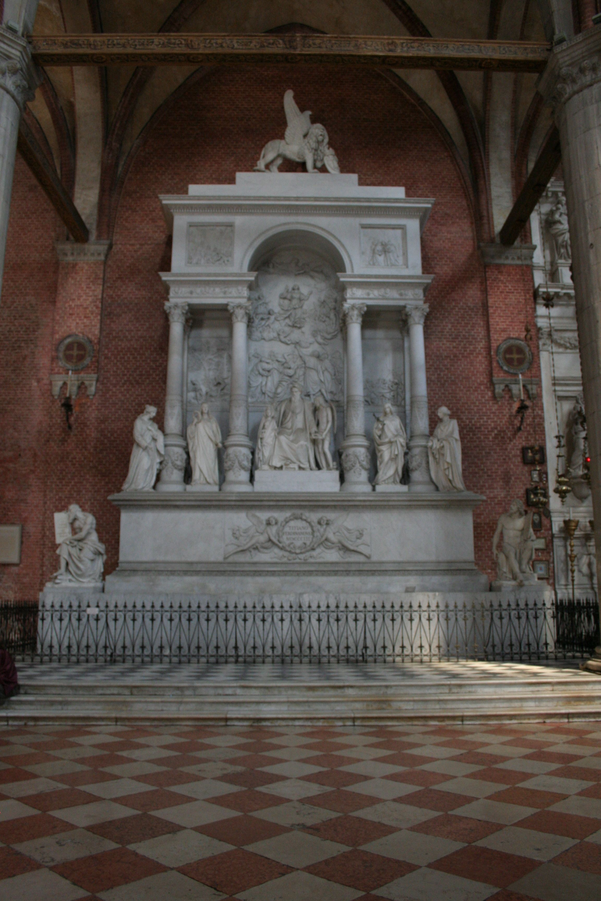 Titian's Memorial, Frari Church, Venice, Italy