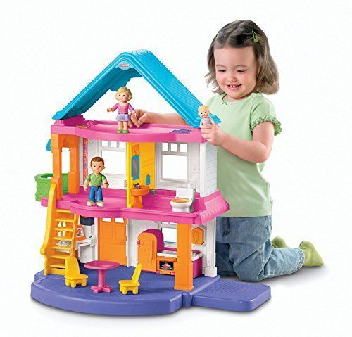 my first fisher price dollhouse family baby kitchen furniture doll