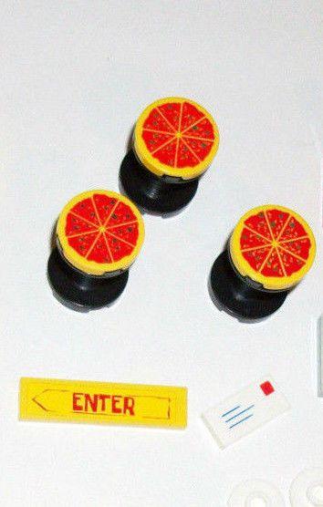 $12 #ebay #lego #pizza #legocity #legotown 2x2 Pizza Round Mail Tile 3940 4 LEGO SET 4556 4561 60097 60026 4560 41058 60031 #lego