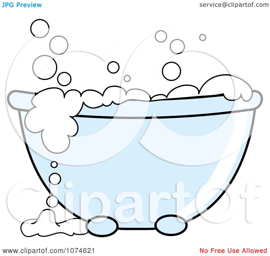 free bath tubs clip art | Clipart Tub With Sudsy White Bubble Bath ...
