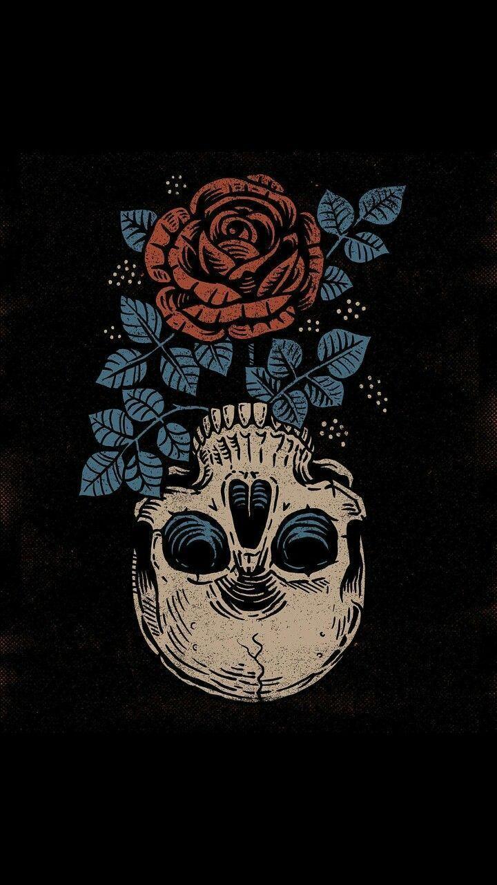 Follow My Board Iphone Wallpapers Iphone Wallpaper Illustration Skull Wallpaper Skull Art