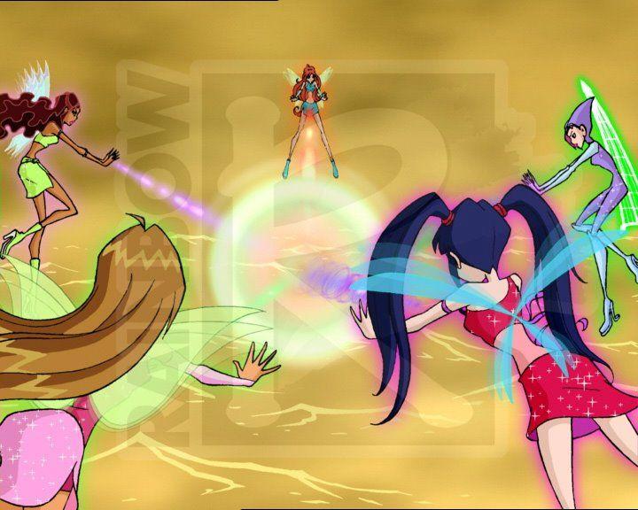 Winx Club!!!!! Aisha, Musa, Tecna, Bloom and Flora!!!