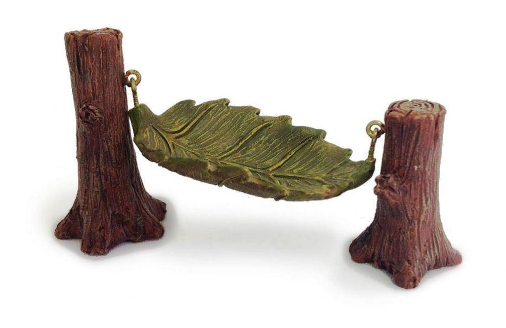 Miniature Fairy Garden Leaf Hammock in Home & Garden, Yard, Garden & Outdoor Living, Garden Décor | eBay