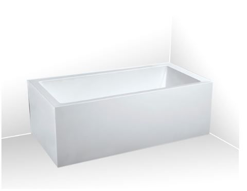 1500 Sentor Back To Wall Freestanding Bath Left Hand Open Model In