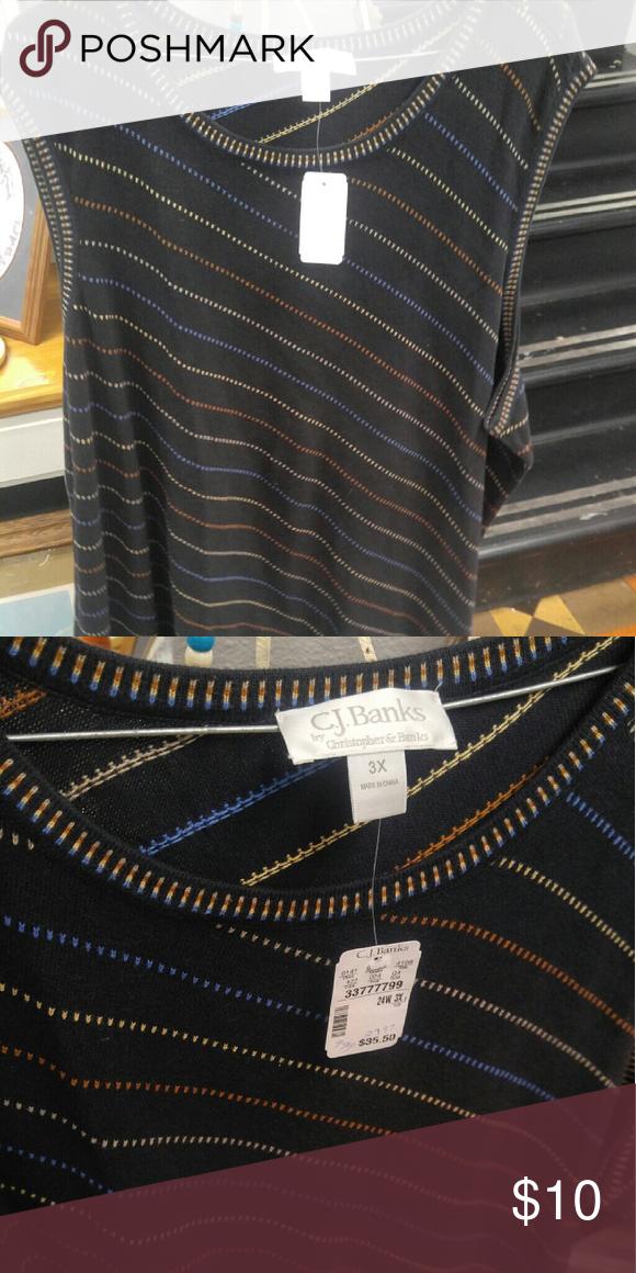 CJ Banks Sweater Vest CJ Banks Sweater Vest Size 3x CJ Banks Sweaters