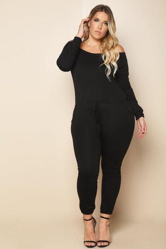 7db4c030be7 Plus Size Long Sleeve Jumpsuit