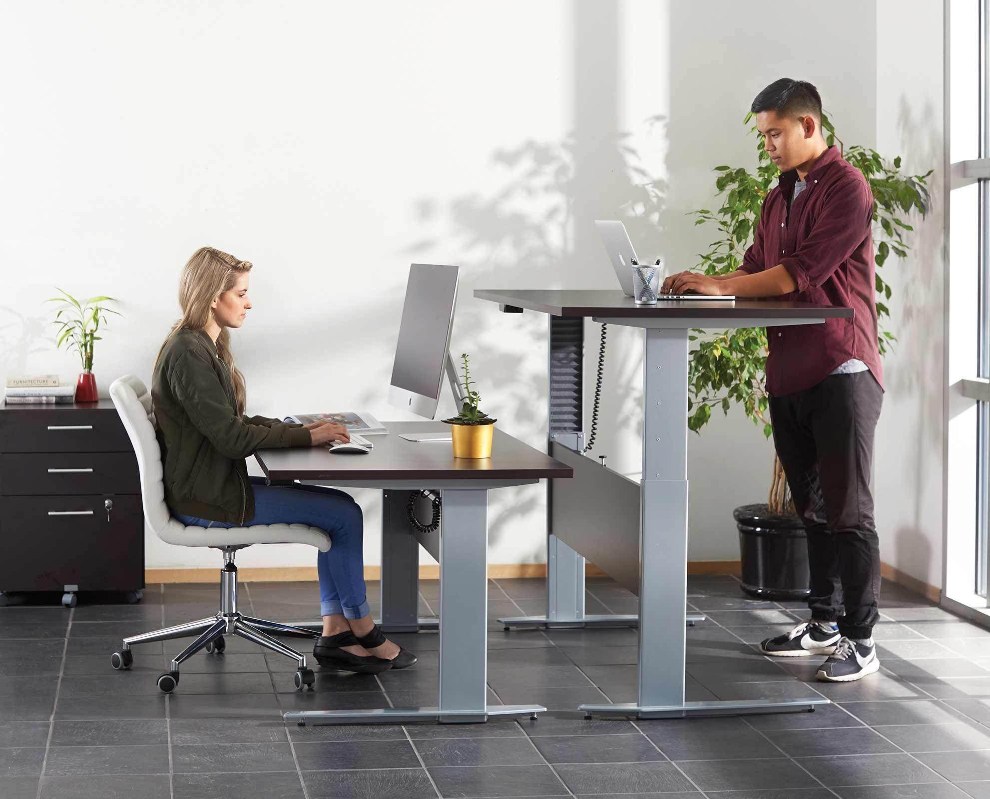 Network 59 Sit Stand Desk Sit Stand Desk Desk In Living Room