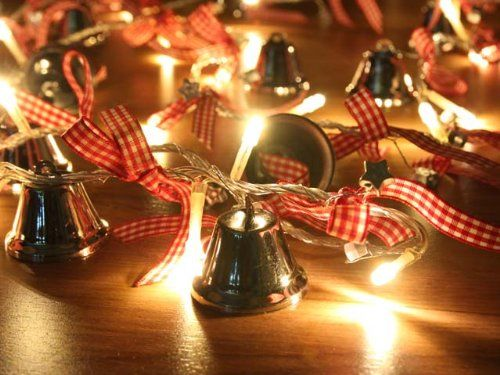 battery operated warm white led string lights with jingle bell christmas lights party lights