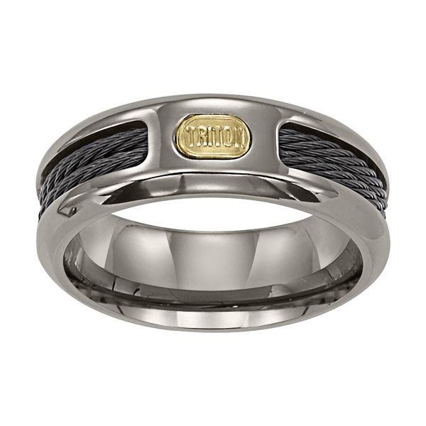 Titanium Nitinol Cable Inlaid ring
