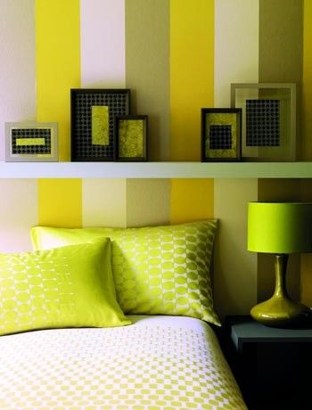 Vertical Stripes Bedroom Paint Ideas If you like the bedroom ...